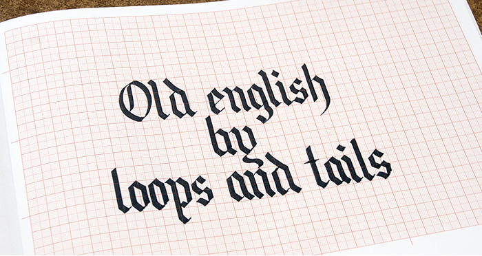blackletter Alphabet Sample writing Excercises About Tools